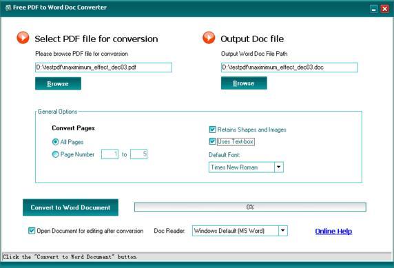 Vorschau Free PDF to Word Doc Converter - Bild 1