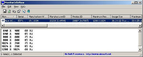 Vorschau MonitorInfoView - Bild 1