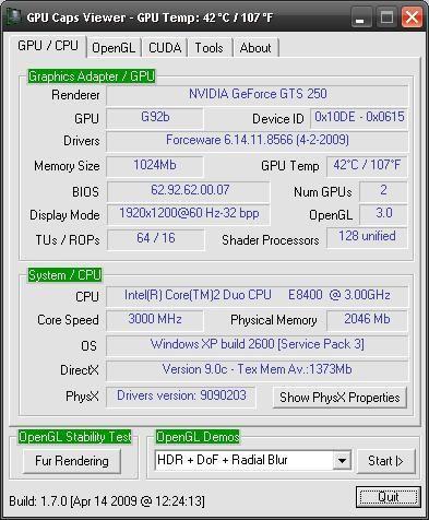 Vorschau GPU Caps Viewer - Bild 1