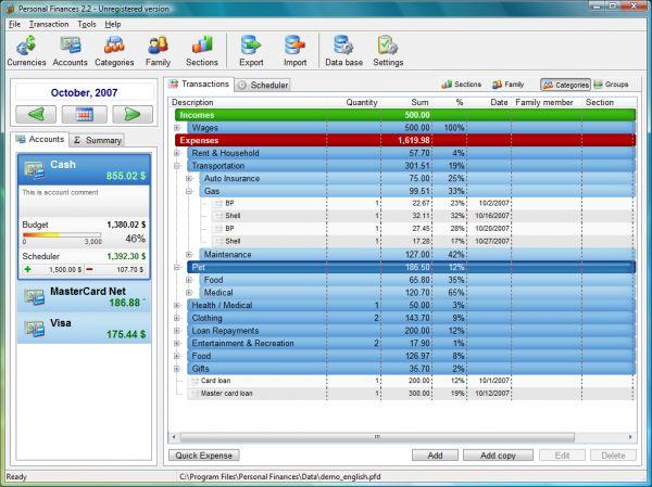 Vorschau Personal Finances Lite - Bild 1