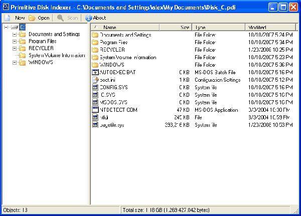 Vorschau Primitive Disk Indexer - Bild 1