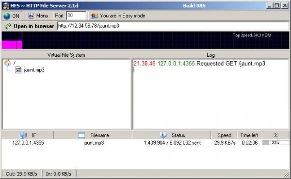 Vorschau HFS - HTTP File Server - Bild 1