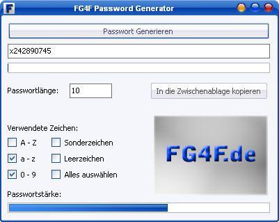 Vorschau FG4F Passwort Generator - Bild 1