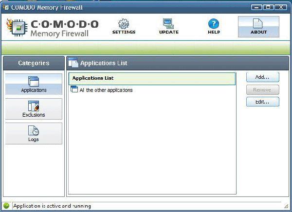 Vorschau Comodo Memory Firewall - Bild 1