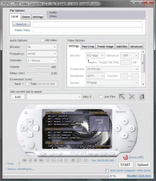 Vorschau PSPVC - PSP Video Converter - Bild 1