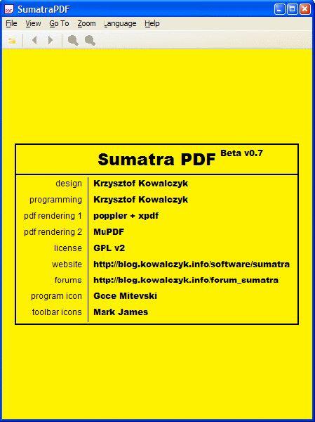 Vorschau Sumatra PDF und Portable - Bild 1