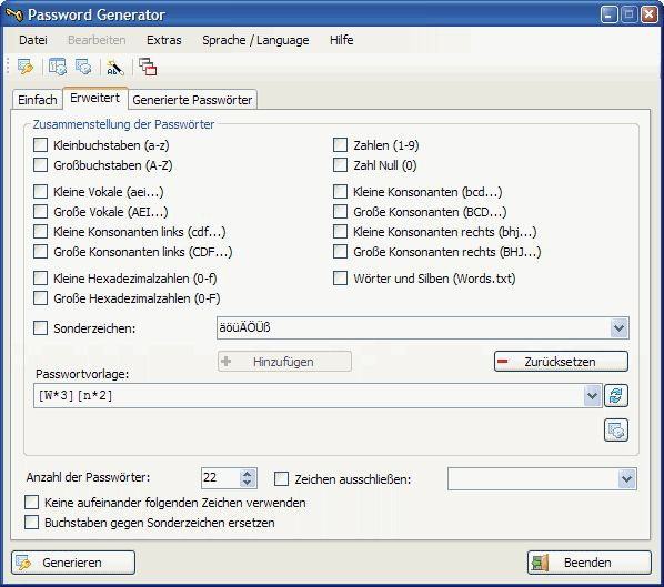 Vorschau Password Generator .NET - Bild 1