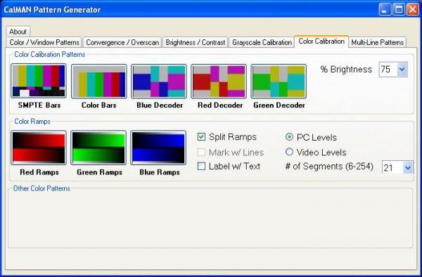 Vorschau CalMAN HTPC Pattern Generator - Bild 1