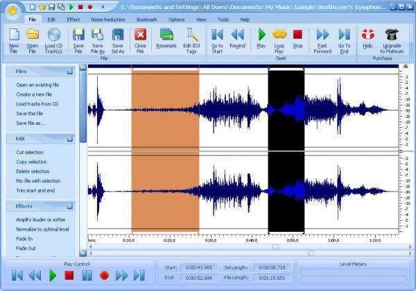 Vorschau Free Audio Editor - Bild 1