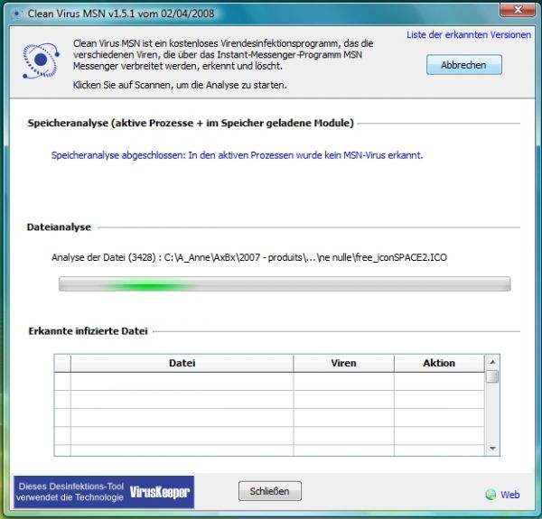 Vorschau Clean Virus MSN - Bild 1