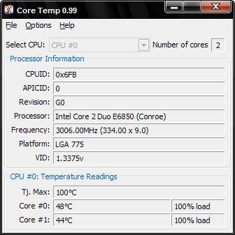 Vorschau Core Temp - Bild 1