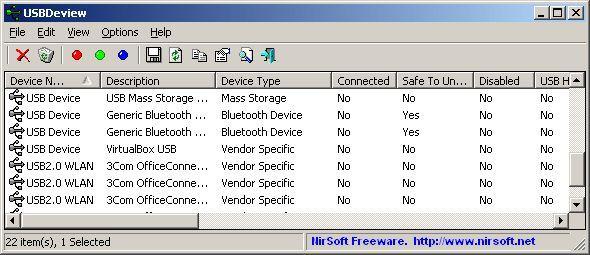 Vorschau USBDeview - Bild 1