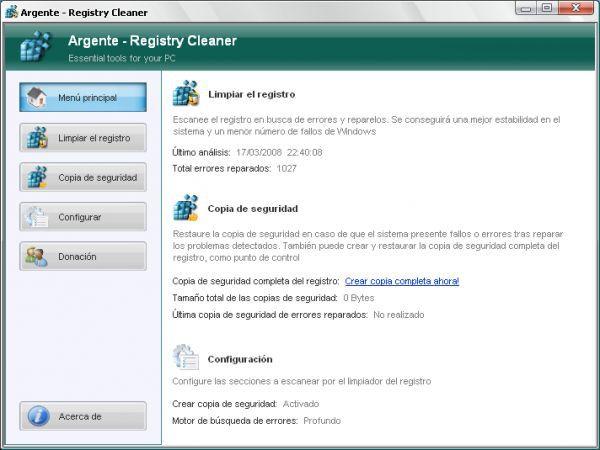 Vorschau Argente - Registry Cleaner - Bild 1