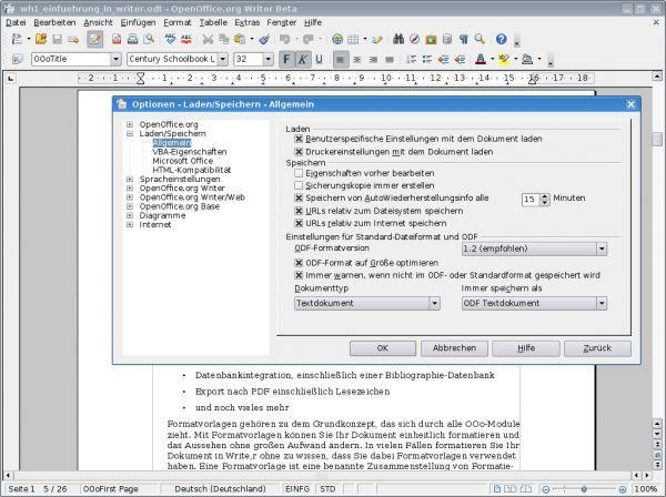 Vorschau Apache OpenOffice - Bild 1