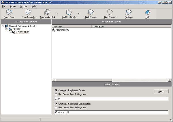 Vorschau EMCO OS License Modifier - Bild 1