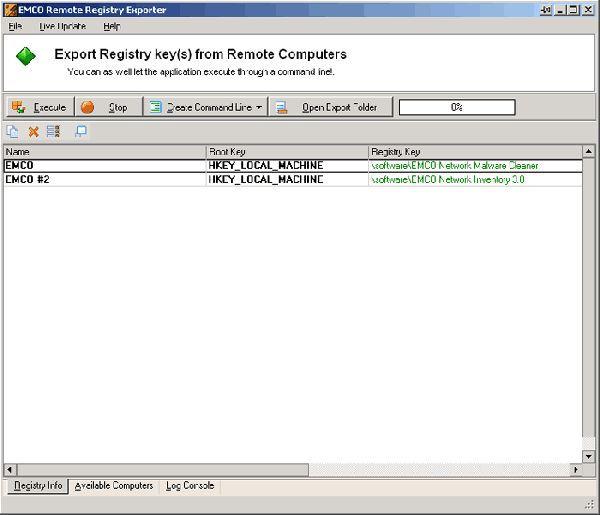 Vorschau Remote Registry Exporter - Bild 1