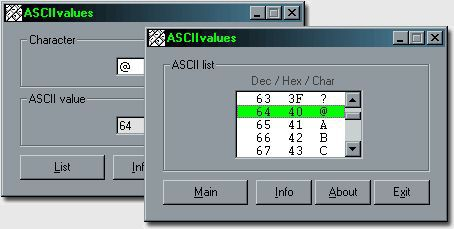 Vorschau ASCIIvalues - Bild 1