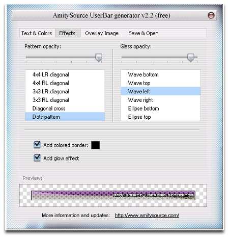 Vorschau AmitySource UserBar Generator - Bild 1