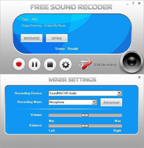 Vorschau Free Sound Recorder - Bild 1