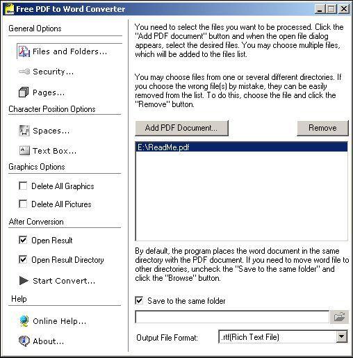 Vorschau Free PDF to Word Converter - Bild 1