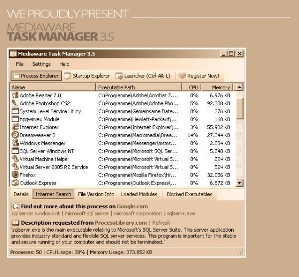 Vorschau Mediaware Task Manager - Bild 1