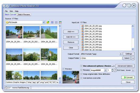 Vorschau FastStone Photo Resizer and Portable - Bild 1