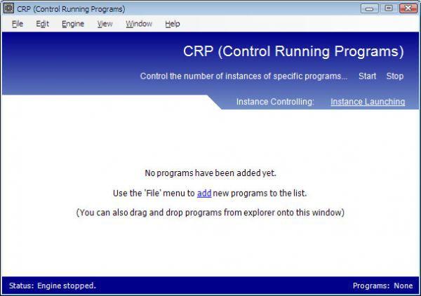 Vorschau CRP - Control Running Programs - Bild 1