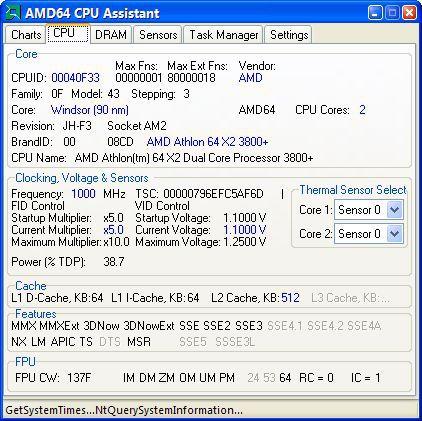 Vorschau AMD64 CPU Assistant - Bild 1