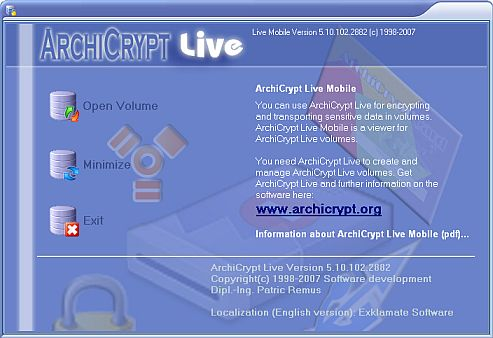 Vorschau ArchiCrypt Live Mobile - Bild 1