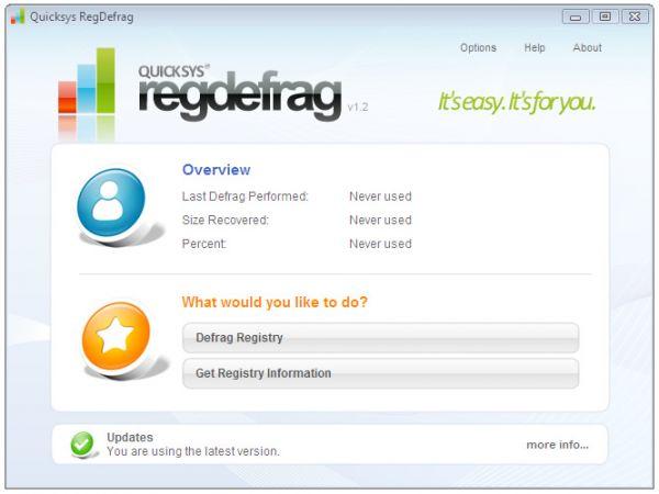 Vorschau Quicksys RegDefrag Portable Version - Bild 1