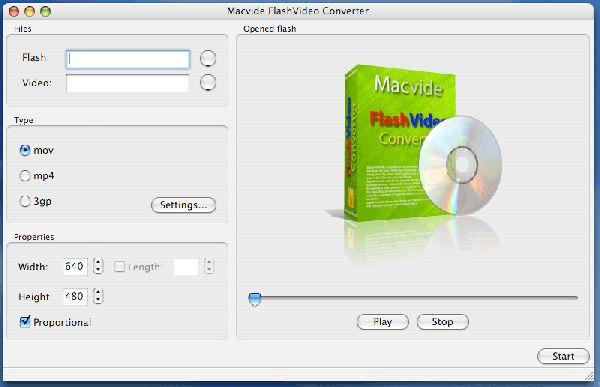 Vorschau Macvide FlashVideo Converter - Bild 1