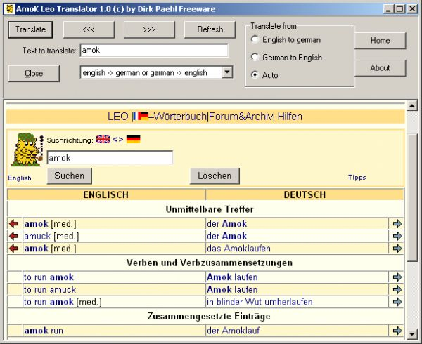 Vorschau AmoK LEO Translator - Bild 1