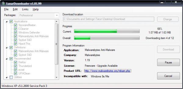 Vorschau Anti-Malware Toolkit - LunarDownloader - Bild 1