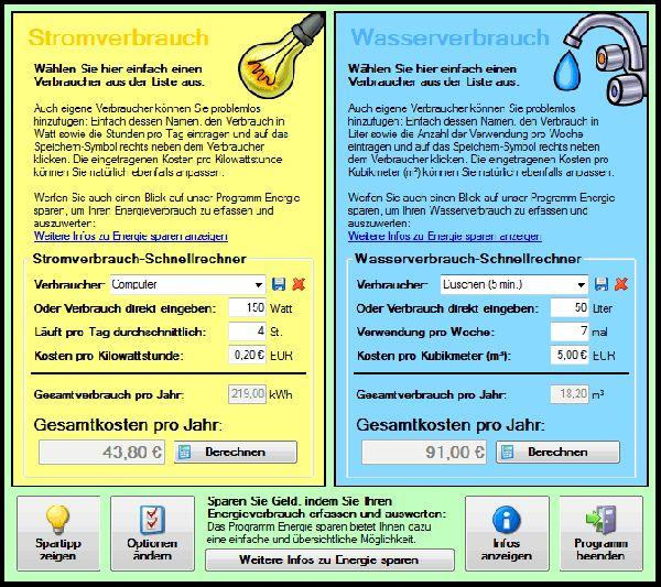 Vorschau Energiekosten-Schnellrechner - Bild 1