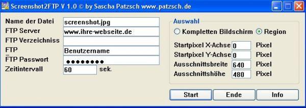 Vorschau sreenshot2FTP - Bild 1