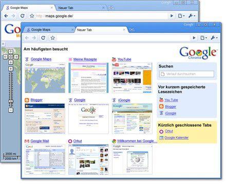 Vorschau Google Chrome - Bild 1