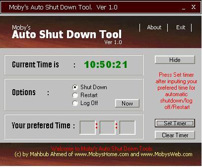 Vorschau Mobys Auto Shut down - Bild 1