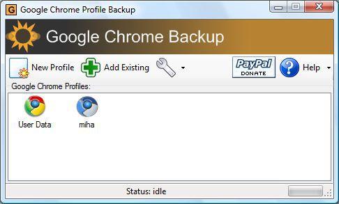 Vorschau Google Chrome Backup - Bild 1