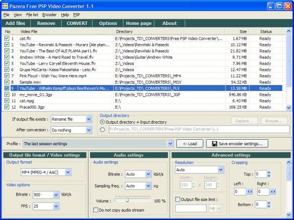 Vorschau Pazera Free PSP Video Converter - Bild 1