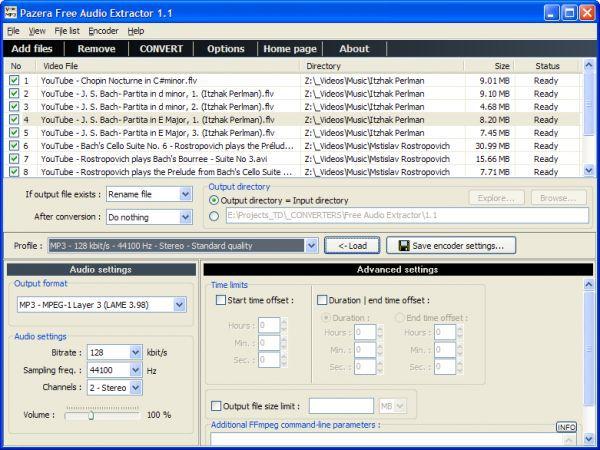 Vorschau Pazera Free Audio Extractor - Bild 1