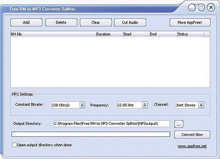 Vorschau Free RM to MP3 Converter Splitter - Bild 1