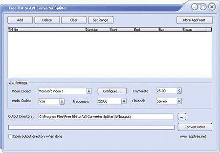 Vorschau Free RM to AVI Converter Splitter - Bild 1