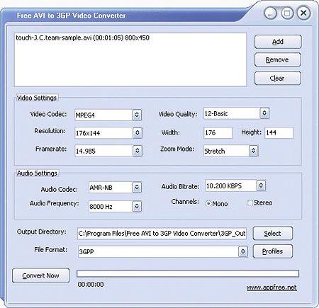 Vorschau Free AVI to 3GP Converter - Bild 1