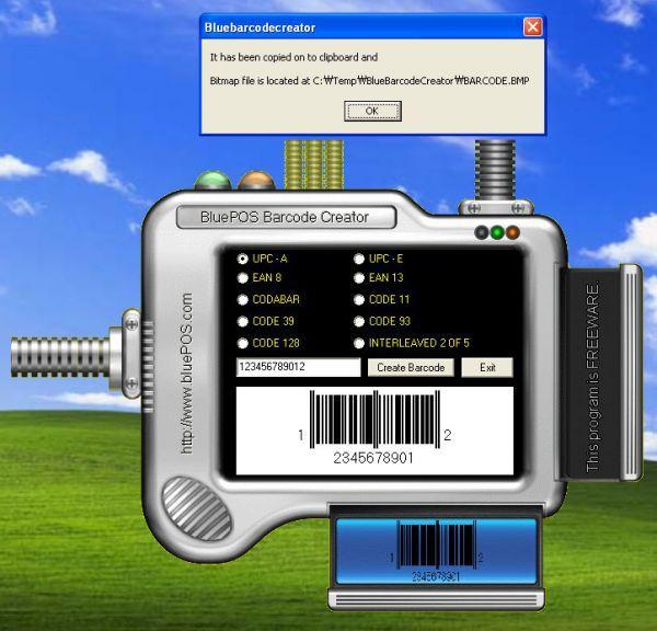 Vorschau BluePOS Barcode Creator - Bild 1