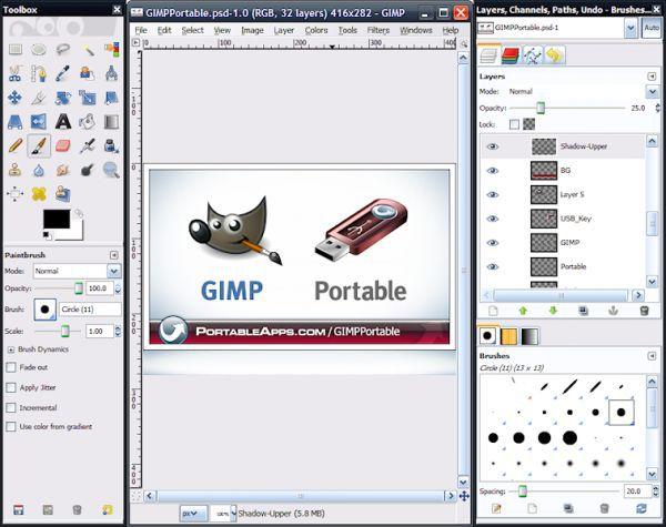 Vorschau GIMP Portable - Bild 1