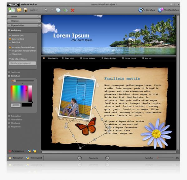 Vorschau MAGIX Website Maker - Bild 1