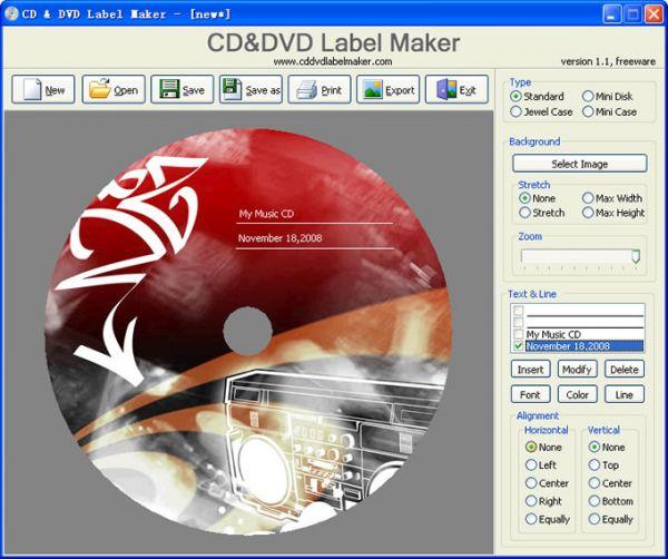 cd and dvd label maker screenshots freeware. Black Bedroom Furniture Sets. Home Design Ideas