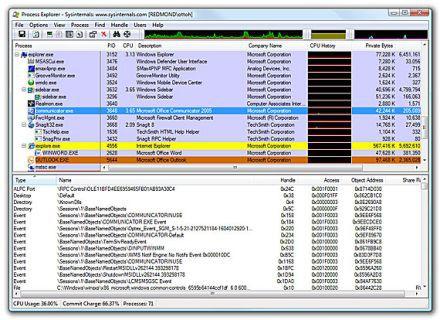 Vorschau Microsoft Process Explorer - Bild 1