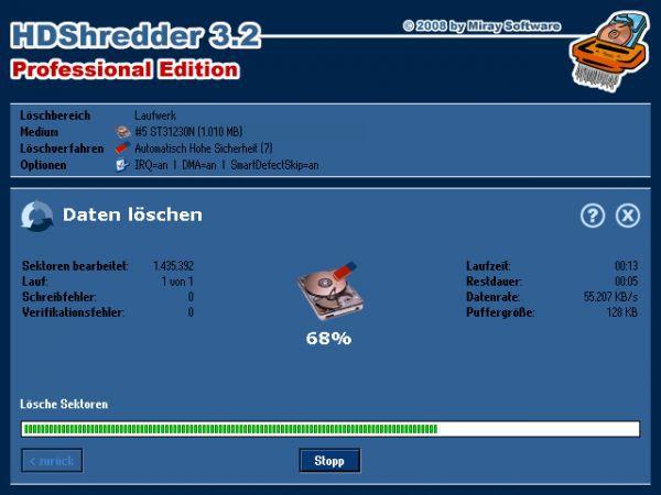 Vorschau HDShredder Free Edition - Bild 1