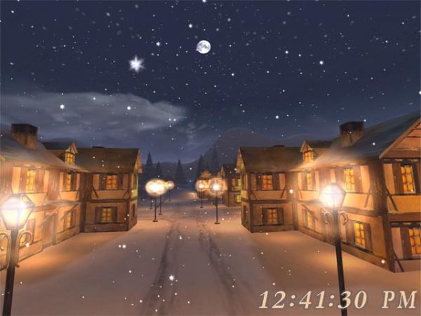 Vorschau Free 3D Christmas Night Screensaver - Bild 1